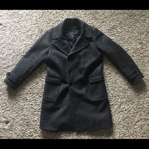 Express double breasted overcoat topcoat